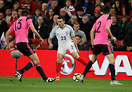 Jack Harrison of England during the U21 UEFA EURO first qualifying round match between England and Scotland at the Riverside Stadium, Middlesbrough, England on 6 October 2017. Photo by Paul Thompson.