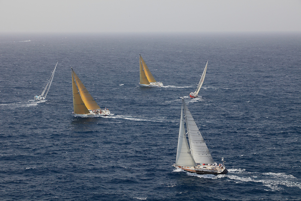 S/Y Sojana racing in the 2010 Antigua Race Week in Antigua.