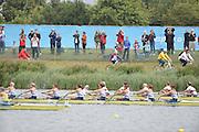 Eton Dorney, Windsor, Great Britain,..2012 London Olympic Regatta, Dorney Lake. Eton Rowing Centre, Berkshire[ Rowing]...Start, Women's Eights. GBR W8+, GER W8+ NED W8+. AUS W8+ Dorney Lake. 10:54:03  Tuesday  10:54:03   [Mandatory Credit: Peter Spurrier/Intersport Images].