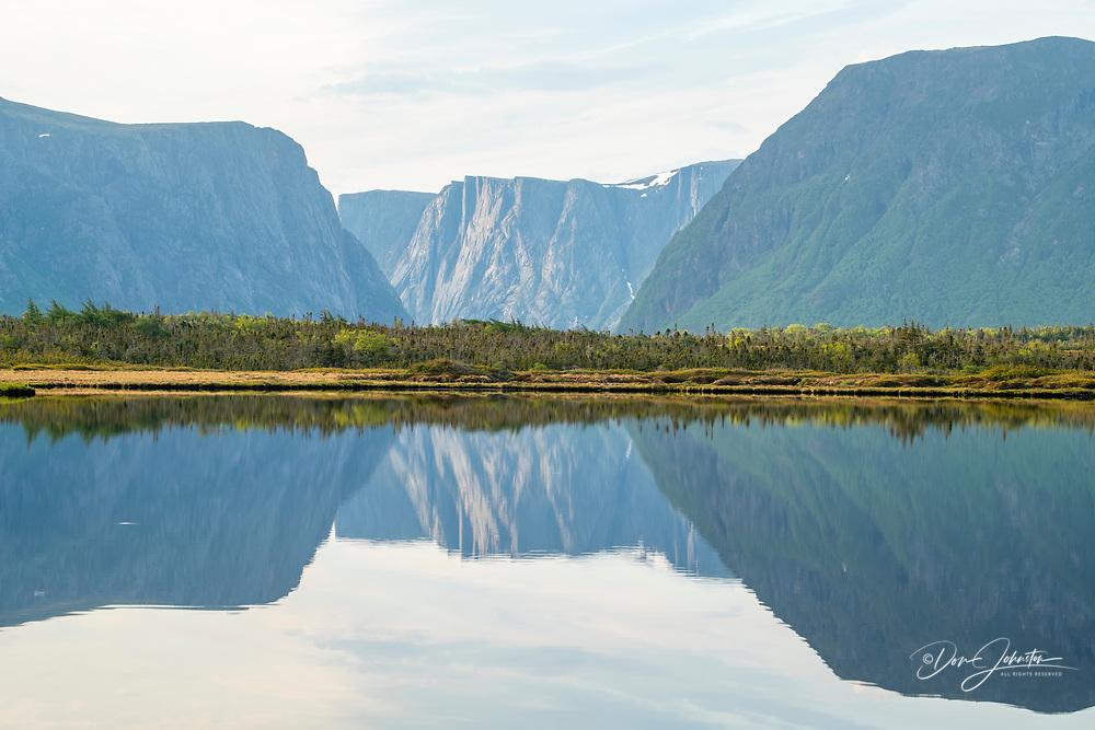 Reflections in Jack's Pond, Gros Morne National Park, Newfoundland and Labrador NL, Canada