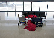 Feb 10,2010 - Chantilly, Va USA - Standed passengers sleep in the  all but deserted Washington Dulles International Airport on Wednesday as fights were cancelled for 24 hours due to blizzard conditions. (Credit Image: ©Pete Marovich/ZUMA Press)