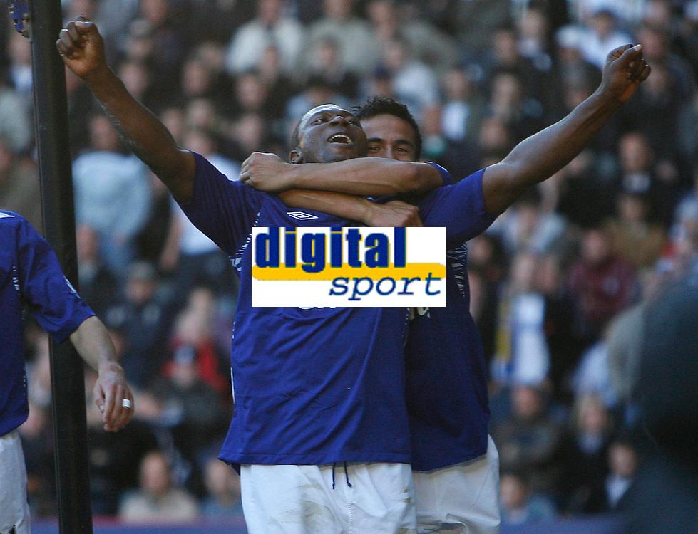 Photo: Steve Bond.<br /> Derby County v Everton. The FA Barclays Premiership. 28/10/2007. Yakubu celebrates