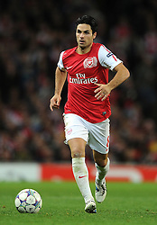 01.11.2011, Emirates Stadion, London, ENG, UEFA CL, Gruppe F, Arsenal FC (GBR) vs Olympique de Marseille (FRA), im Bild  Arsenal's Mikel Arteta in action // during UEFA Champions League group F match between Arsenal FC (GBR) and Olympique de Marseille (FRA) at Emirates Stadium, London, United Kingdom on 01/11/2011. EXPA Pictures © 2011, PhotoCredit: EXPA/ Propaganda Photo/ Chris Brunskill +++++ ATTENTION - OUT OF ENGLAND/GBR+++++