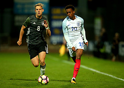 Joseph Willock of England goes past Arne Maier of Germany Under 19s - Mandatory by-line: Robbie Stephenson/JMP - 05/09/2017 - FOOTBALL - One Call Stadium - Mansfield, United Kingdom - England U19 v Germany U19 - International Friendly
