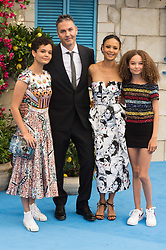 © Licensed to London News Pictures. 16/07/2018. London, UK. Director Ol Parker, Thandie Newton and family attends the Mamma Mia! Here We Go Again World Film Premiere at Eventime Apollo Hammersmith. Photo credit: Ray Tang/LNP