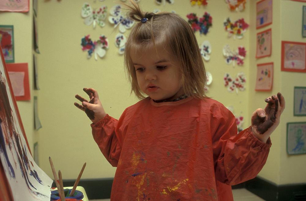 Art class at Montessori nursery