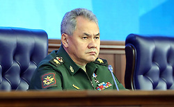 December 18, 2018 - Moscow, Russia - December 18, 2018. - Russia, Moscow. - Russia's Defense Minister Sergey Shoigu attends an expanded meeting of the Defense Ministry Board. (Credit Image: © face to face via ZUMA Press)