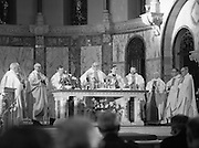 Garda Siochana Diamond Jubilee..1982.21.02,1982.02.21.1982.21st February 1982..Image of the altar as the priests celebrate the Mass.