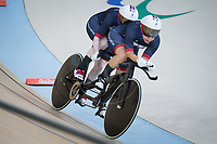20160911 Copyright onEdition 2016©<br /> Free for editorial use image, please credit: onEdition<br /> <br /> Cyclist Sophie Thornhill (Tandem B) from Poynton, Stockport, competing for ParalympicsGB at the Rio Paralympic Games 2016.<br />  <br /> ParalympicsGB is the name for the Great Britain and Northern Ireland Paralympic Team that competes at the summer and winter Paralympic Games. The Team is selected and managed by the British Paralympic Association, in conjunction with the national governing bodies, and is made up of the best sportsmen and women who compete in the 22 summer and 4 winter sports on the Paralympic Programme.<br /> <br /> For additional Images please visit: http://www.w-w-i.com/paralympicsgb_2016/<br /> <br /> For more information please contact the press office via press@paralympics.org.uk or on +44 (0) 7717 587 055<br /> <br /> If you require a higher resolution image or you have any other onEdition photographic enquiries, please contact onEdition on 0845 900 2 900 or email info@onEdition.com<br /> This image is copyright onEdition 2016©.<br /> <br /> This image has been supplied by onEdition and must be credited onEdition. The author is asserting his full Moral rights in relation to the publication of this image. Rights for onward transmission of any image or file is not granted or implied. Changing or deleting Copyright information is illegal as specified in the Copyright, Design and Patents Act 1988. If you are in any way unsure of your right to publish this image please contact onEdition on 0845 900 2 900 or email info@onEdition.com