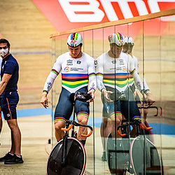 GRENCHEN  (SWI) EUROPEAN TRACK CHAMPIONSHIPS, October 5th<br /> Teamsprint men Jeffrey Hoogland