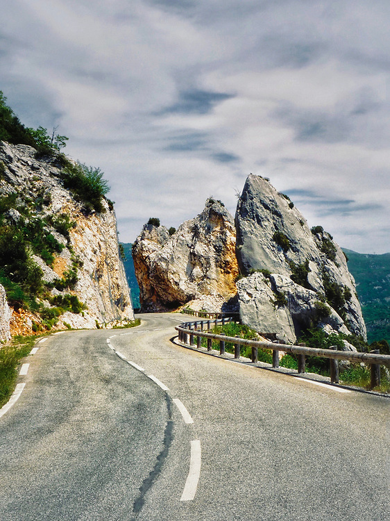 In the remote mountains of the Var, north of the Cote d'Azure in southern France is this wonderful road - the Col de Vence.