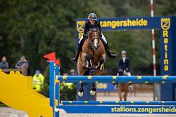 Van der Straten Cindy, BEL, Urban de Rohan<br /> Belgisch Kampioenschap Jumping  <br /> Lanaken 2020<br /> © Hippo Foto - Dirk Caremans<br /> 03/09/2020