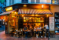 Le Malabar (sidewalk cafe), Rue St. Dominique, Paris, France.