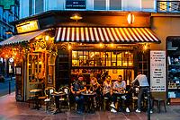 Le Malabar (sidewalk cafe), Rue St. Dominique, Paris, France.