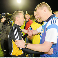 15 September 2012; Kilkenny manager Richie Mulrooney congratulates Clare managers Donal Moloney, right, and Gerry O'Connor. Bord Gáis Energy GAA Hurling Under 21 All-Ireland 'A' Championship Final, Clare v Kilkenny, Semple Stadium, Thurles, Co. Tipperary. Picture credit: Matt Browne / SPORTSFILE