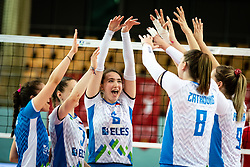 Players of Slovenian team rejoicing during volleyball match between Slovenia and Austria in CEV Volleyball European Silver League 2021, on 6 of June, 2021 in Dvorana Ljudski Vrt, Maribor, Slovenia. Photo by Blaž Weindorfer / Sportida