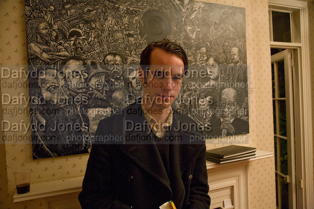 JOHN CASEY, Come and Check My Gaff. Mixed exhibition in an empty house in Chelsea. I Petyt Place. London. 16 December 2008. Exhibition on until 21 December.  *** Local Caption *** -DO NOT ARCHIVE-© Copyright Photograph by Dafydd Jones. 248 Clapham Rd. London SW9 0PZ. Tel 0207 820 0771. www.dafjones.com.<br /> JOHN CASEY, Come and Check My Gaff. Mixed exhibition in an empty house in Chelsea. I Petyt Place. London. 16 December 2008. Exhibition on until 21 December.