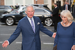 The Prince of Wales and the Duchess of Cornwall arrive for a tea party at Spencer House in London to celebrate 70 inspirational people marking their 70th birthday this year.