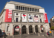 Teatro Real opera house theatre building in Plaza de Isabel II, Madrid, Spain
