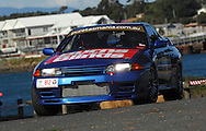 #812 - Matthew Sims & Dennis Sims - 1989 Nissan Skyline GTR R32 NI Replica.Prologue.George Town.Targa Tasmania 2010.27th of April 2010.(C) Joel Strickland Photographics.Use information: This image is intended for Editorial use only (e.g. news or commentary, print or electronic). Any commercial or promotional use requires additional clearance.