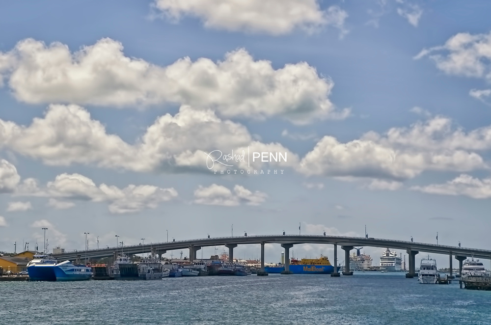 Paradise Island Bridge and Sydney Poitier Bridge that allows commuters access to and from the main land.