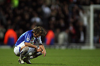 Photo: Paul Thomas.<br /> Blackburn Rovers v Manchester United. The Barclays Premiership. 11/11/2006.<br /> <br /> A dejected Man of the Match, Blackburn's Tugay.