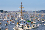 Tall Ships flotilla in Sydney Harbour for Australia's Bicentenary, 1988
