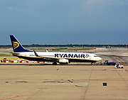 Ryanair plane on tarmac at Barcelona Airport. Barcelona. Spain 2013