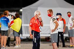 Schockemohle Paul, GER, Bruynseels Niels, BEL<br /> Olympic Games Tokyo 2021<br /> © Hippo Foto - Dirk Caremans<br /> 07/08/2021