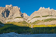 Rocky Mountains along the Icefields Parkway<br /> Banff National Park<br /> Alberta<br /> Canada