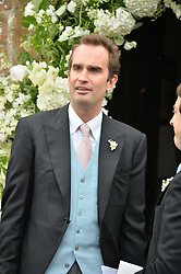 FRITZ VON WESTENHOLZ at the wedding of Princess Florence von Preussen second daughter of Prince Nicholas von Preussen to the Hon.James Tollemache youngest son of the 5th Lord Tollemache held at the Church of St.Michael & All Angels, East Coker, Somerset on 10th May 2014.
