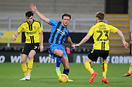 Gillingham defender Luke O'Neill cuts out the ball during the EFL Sky Bet League 1 match between Burton Albion and Gillingham at the Pirelli Stadium, Burton upon Trent, England on 12 January 2019.