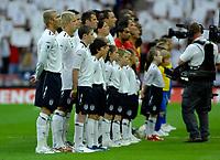 Photo: Richard Lane.<br />England v Brazil. International Friendly. 01/06/2007. <br />England sing the National Anthem.