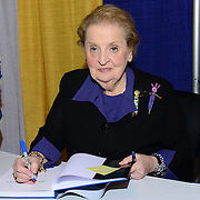 PHILADELPHIA, PA - NOVEMBER 01: Former Secretary of State Madeleine Albright speaks on stage at the Pennsylvania Conference For Women 2013 at Philadelphia Convention Center on November 1, 2013 in Philadelphia, Pennsylvania. (Photo by Lisa Lake/Getty Images for Pennsylvania Conference for Women)