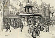 Colonial and Indian Exhibition, London, England: Central Avenue of the Indian Section, 1886.