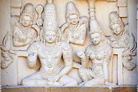 Inde, etat du Tamil Nadu, Kanchipuram, temple de Kailasanatha, 8e siecle // India, Tamil Nadu, Kanchipuram, Kailasanatha temple from 8th century