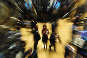 Traders are seen on the floor of the New York Stock Exchange in Manhattan, NY. Stocks plummeted yesterday sending the S&P 500 index to its biggest one-day slides in more than 3 1/2 years.  2/28/2007 Photo by Jennifer S. Altman