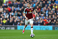 Stephen Ward of Burnley in action. Premier League match, Burnley v Tottenham Hotspur at Turf Moor in Burnley , Lancs on Saturday 1st April 2017.<br /> pic by Chris Stading, Andrew Orchard sports photography.