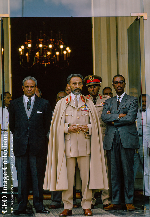 Emperor and guards ready to parade on 27th anniversary of the Graciani massacre.