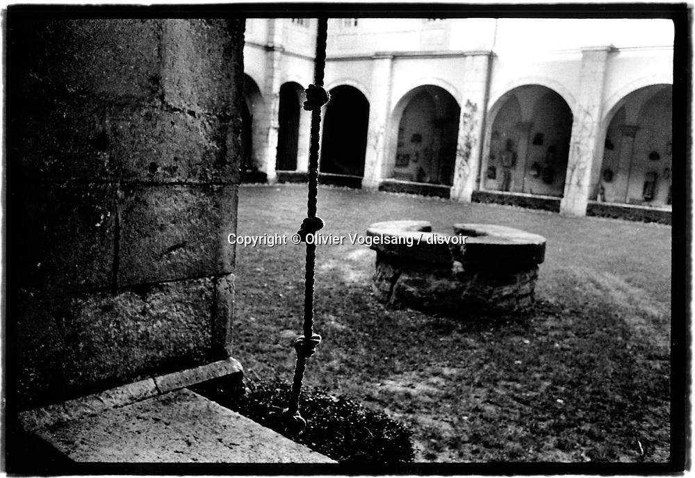 France. Abbaye de Hautecombe proche de Aix-les-bains. Séjour de méditation et de spiritualité, vie en communauté.