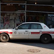 Sheriff old car on Manhattan, New York, USA