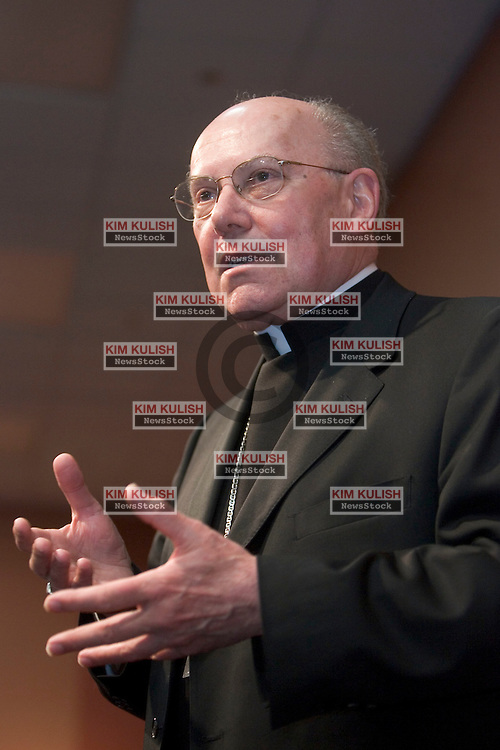 San Francisco Archbishop William Levada attends a press conference in San Francisco, Calif. May 13, 2005. Pope Benedict XVI named San Francisco Archbishop Levada as the Vatican's chief orthodoxy watchdog Friday, tapping an American conservative to fill one of the most powerful church offices, the Congregation for the Doctrine of the Faith.  .Photo by Kim Kulish/