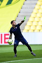 May 6, 2018 - Nantes, France, France - echauffement des joueurs de Montpellier.Benjamin Leconte  (Credit Image: © Panoramic via ZUMA Press)