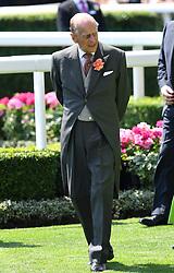 Duke of Edinburgh during day one of Royal Ascot at Ascot Racecourse, London