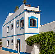 Traditional architecture building style house Cacela Velha, Vila Real de Santo António, Algarve, Portugal, Southern Europe