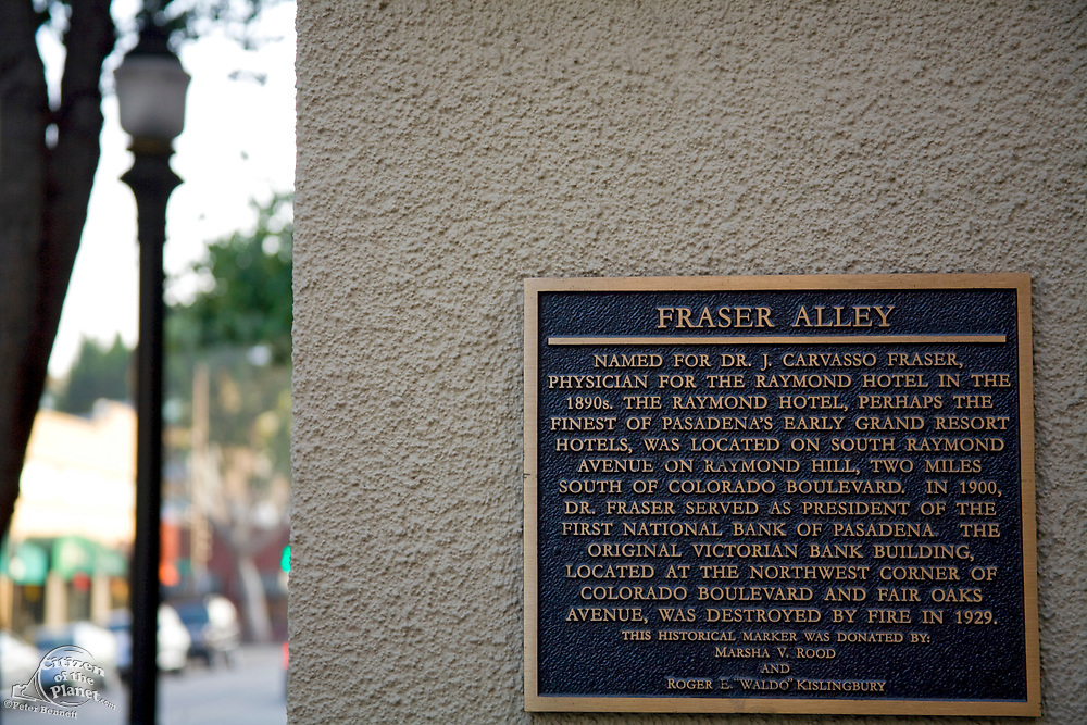 Fraser Alley, Old Pasadena Historic District, Los Angeles County, California, USA