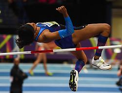 March 2, 2018 - Birmingham, Gangwon, United Kingdom - Erica Bougard ofUnited States at high jump Pentathlon at World indoor Athletics Championship 2018, Birmingham, England on March 2, 2018. (Credit Image: © Ulrik Pedersen/NurPhoto via ZUMA Press)