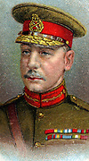 Major-General Charles Vere Ferrers Townshend (1861-1924) British Indian Army officer. In First World War led disastrous first British Expedition against Baghdad.Surendered Kut-al-Amara aftere 143 days. Chromolithograph.