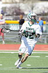 11 April 2015:  James Maibuecher during an NCAA Division III mens lacrosse match between the Elmhurst Bluejays and the Illinois Wesleyan Titans in Bloomington IL