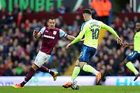 Aston Villa v Derby County - Sky Bet Championship<br /> BIRMINGHAM, ENGLAND - APRIL 28 :  Aston Villa's John Terry tries to close down Derby's Tom Lawrence